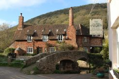 Packhorse Bridge and The Pack Horse Holiday Apartments, Allerford